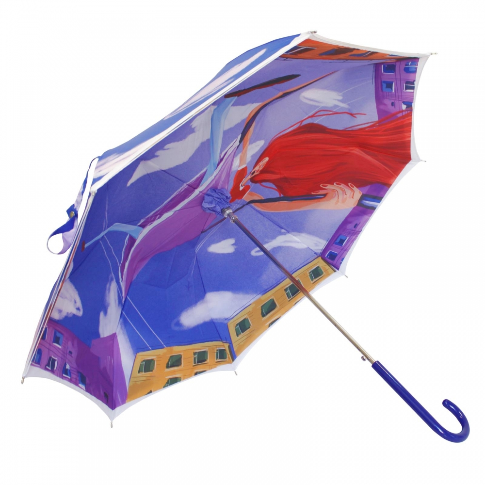 Stick umbrella double sided Up