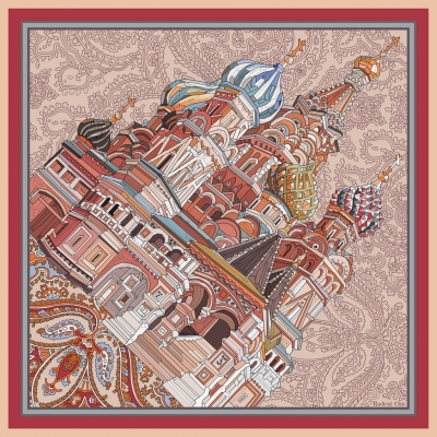 Scarf St. Basil's Cathedral (evening)